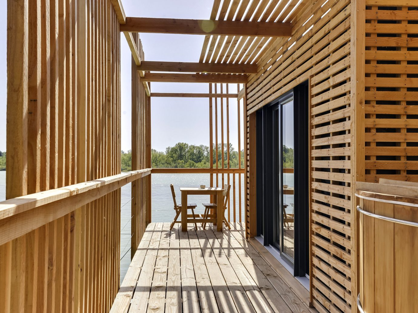 Hotels News Offbeat wood real estate house Deck window estate Balcony outdoor structure interior design facade