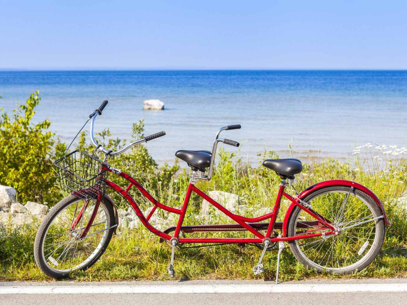 Trip Ideas outdoor sky bicycle water road bicycle vehicle parked leisure transport leaning racing bicycle wheel sports equipment Lake railing overlooking