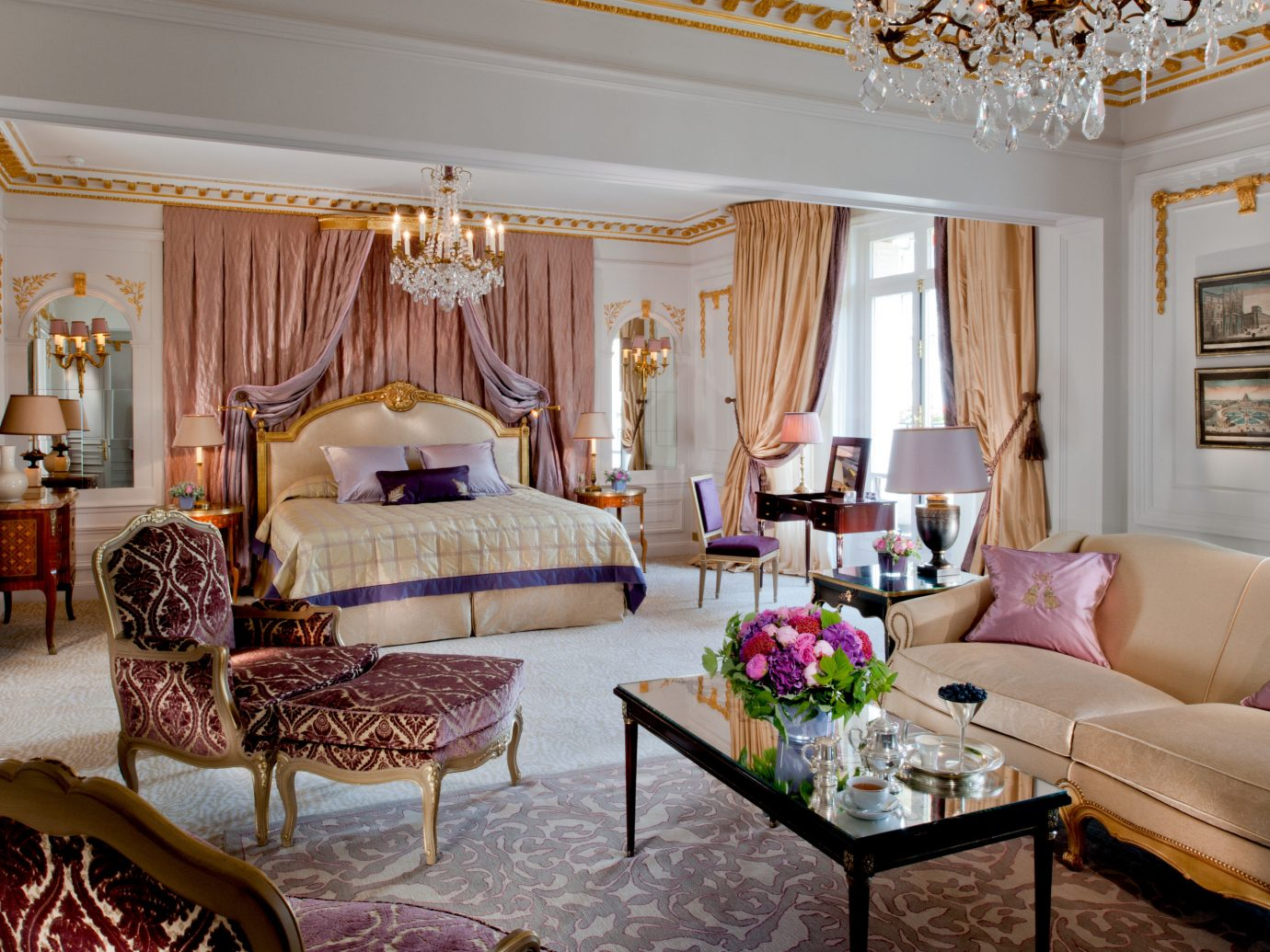 Hotels Luxury Travel indoor room wall Living sofa floor ceiling living room property estate furniture interior design Suite home mansion real estate Villa decorated cottage area flat containing