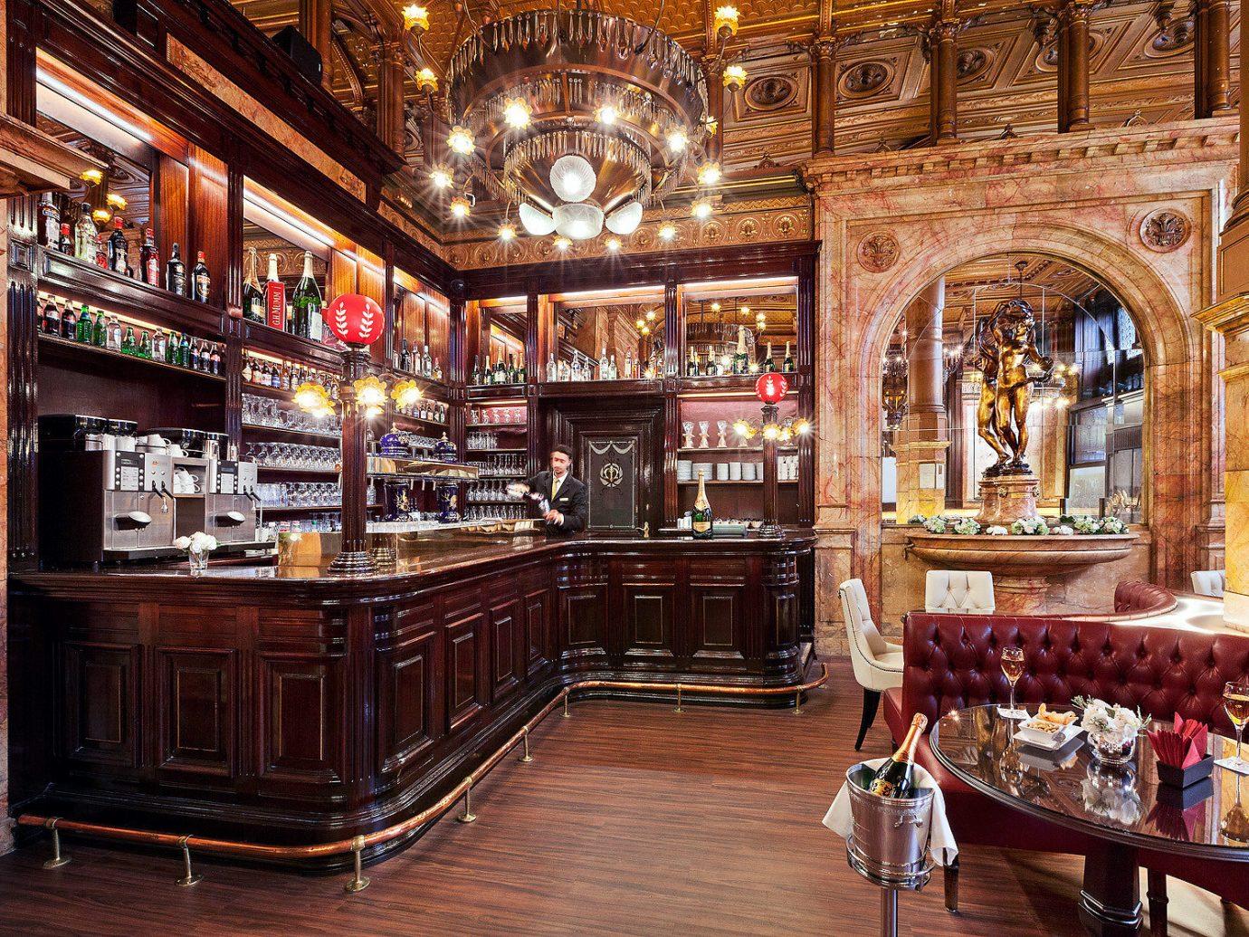 Food + Drink indoor floor building room Bar interior design estate