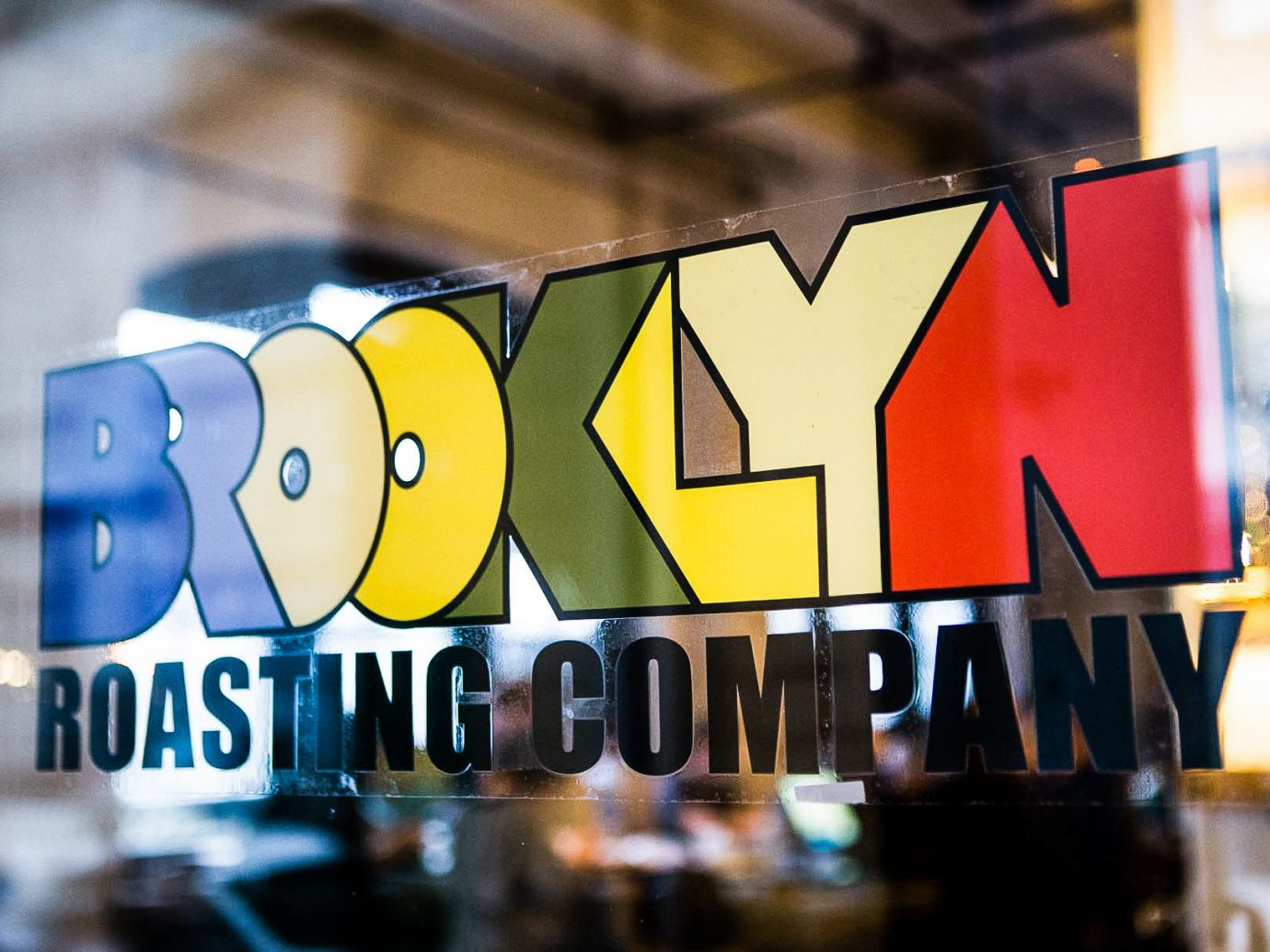 Brooklyn City Food + Drink NYC indoor font advertising brand graphics