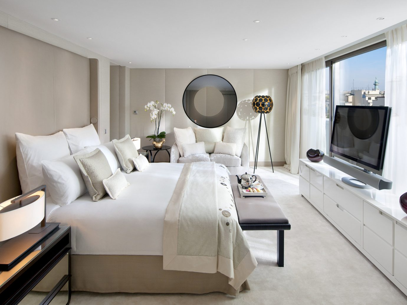 Hotels Luxury Travel indoor wall floor ceiling room Living interior design Suite furniture living room Bedroom interior designer area Modern