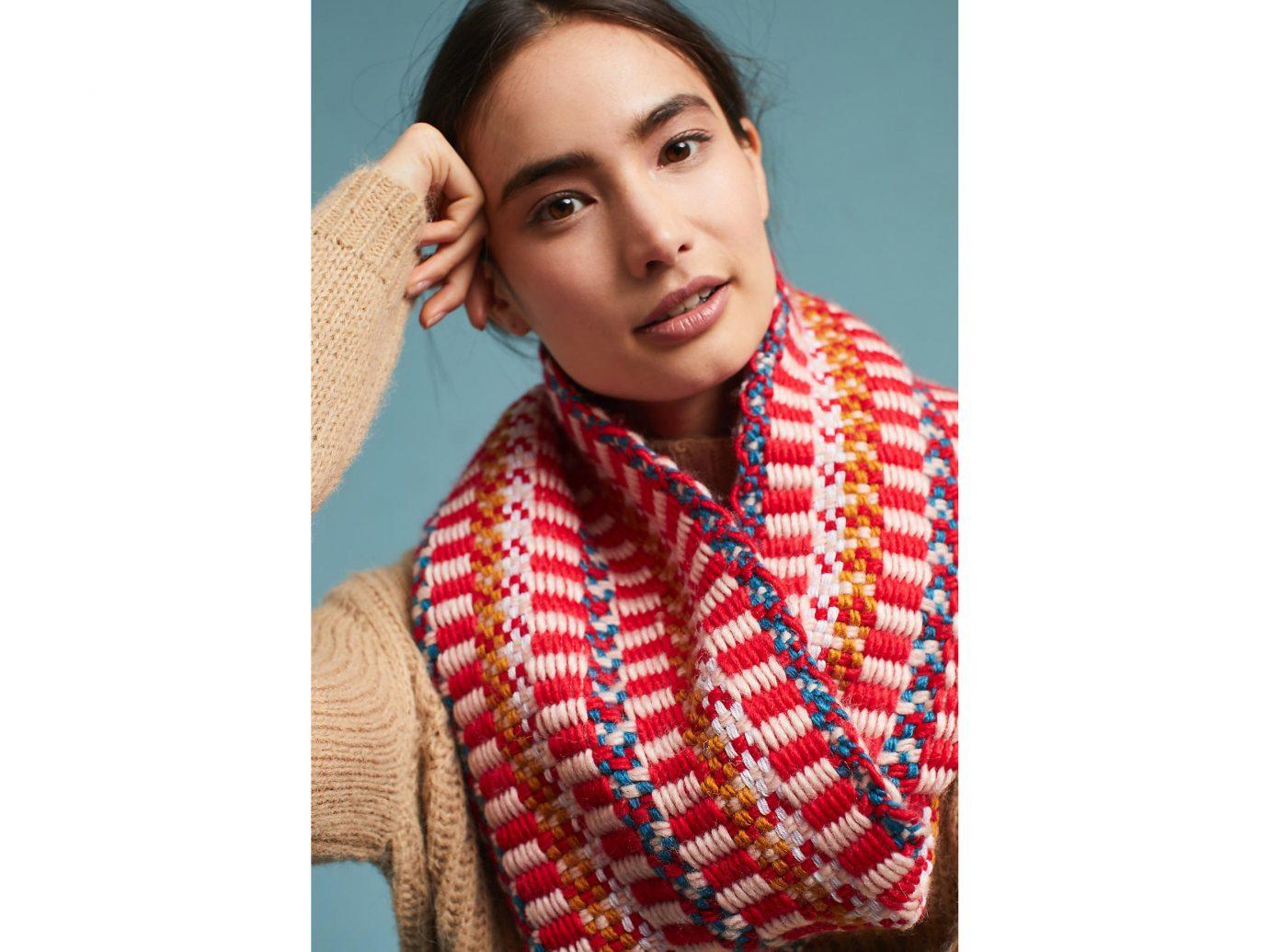 Style + Design Travel Shop person indoor scarf neck fashion model pattern wool stole woolen