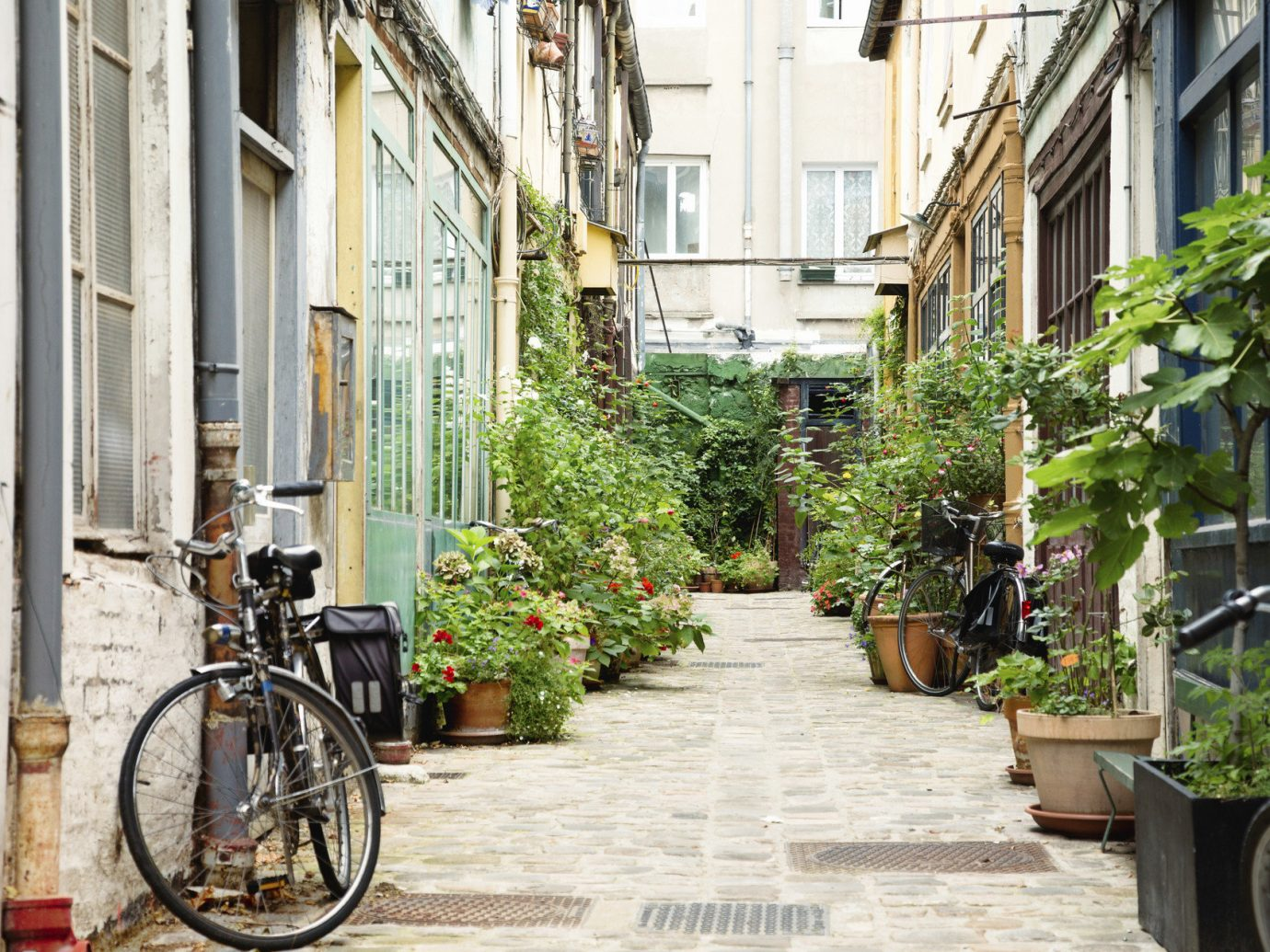 Romance Trip Ideas outdoor bicycle building way road sidewalk parked alley Town street neighbourhood scene lane City urban area human settlement residential area tourism infrastructure Courtyard vehicle flower stone scooter curb