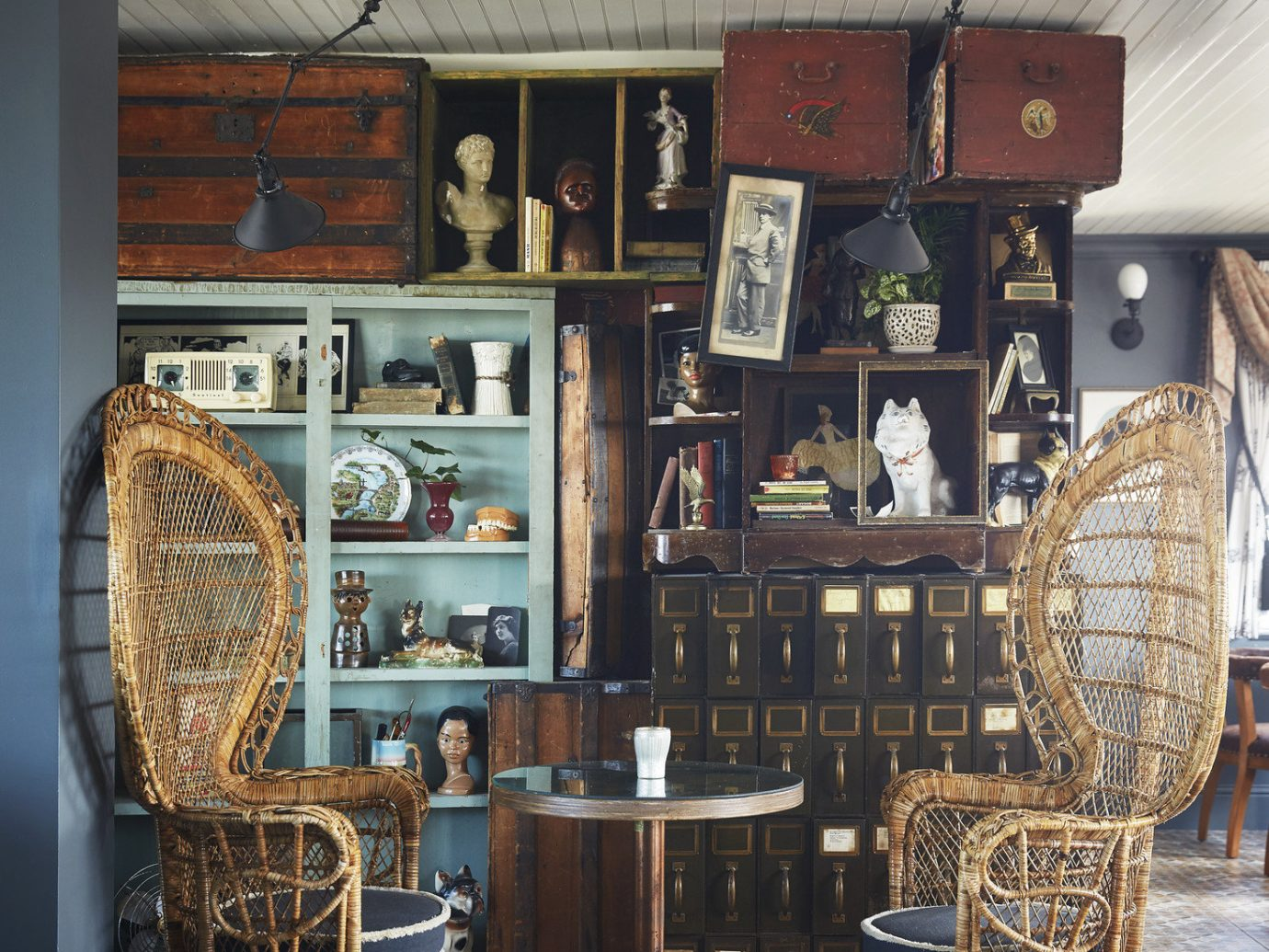 antiques artistic artsy chairs charming cozy decor detail furniture Girls Getaways New Orleans quaint quirky table Trip Ideas vintage Weekend Getaways indoor room wood interior design home dining room living room Design antique old