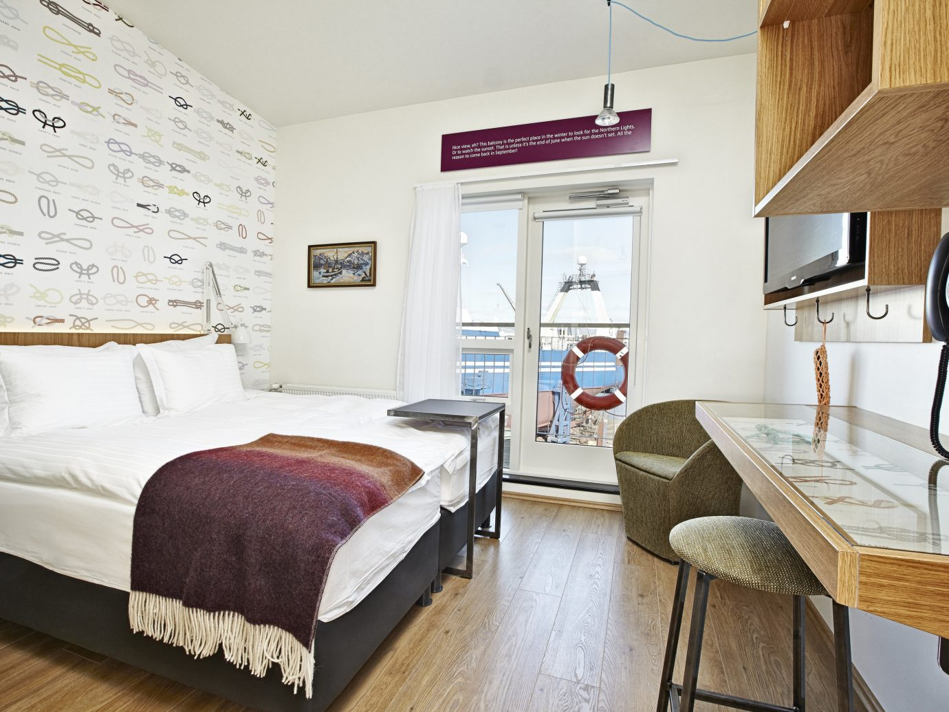 Boutique Hotels Hotels Iceland Reykjavík indoor floor wall room property bed home Bedroom interior design living room hardwood estate real estate cottage Design Suite apartment loft