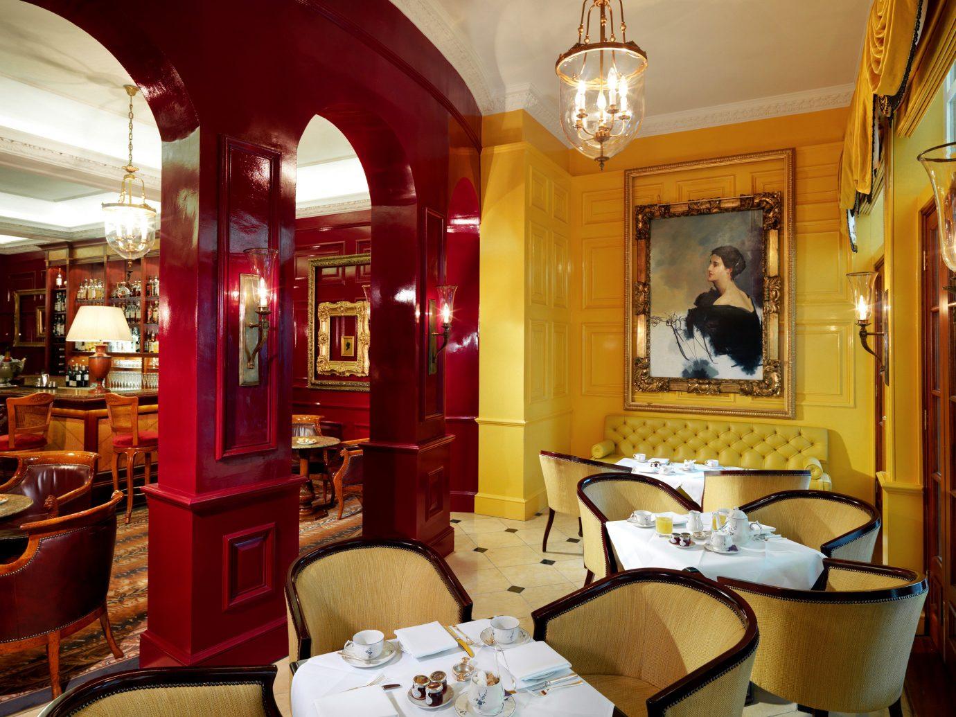 Dining Drink Eat Elegant Hotels London Luxury Travel indoor chair room restaurant estate interior design home Bar living room Suite furniture