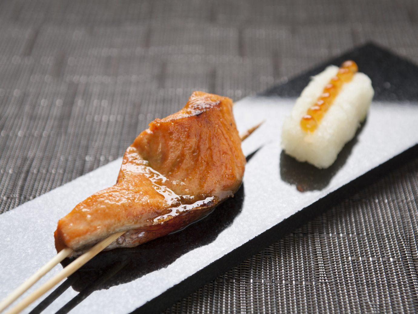 Food + Drink food dish sushi piece cuisine asian food fish slice produce