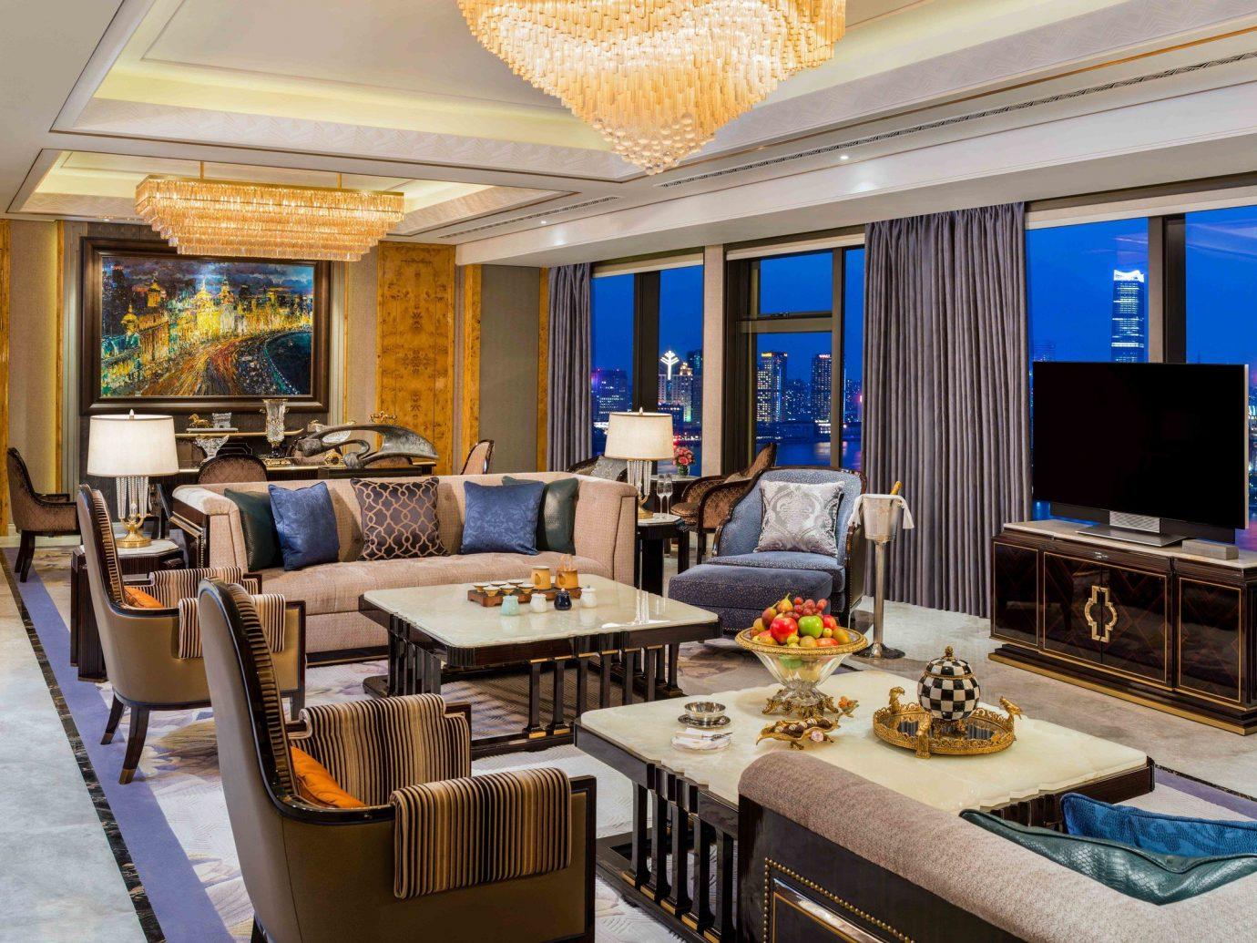 Boutique Hotels Luxury Travel indoor table floor ceiling window Living room living room interior design Suite real estate furniture penthouse apartment Lobby estate apartment area