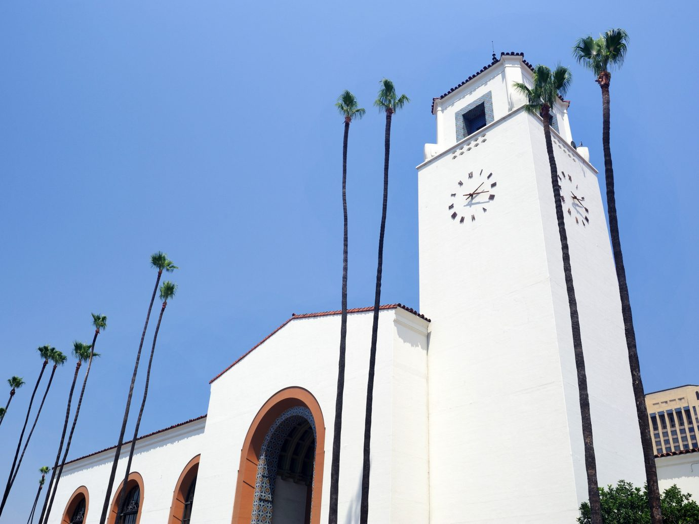 Offbeat sky outdoor building landmark Church place of worship steeple tall tower roof