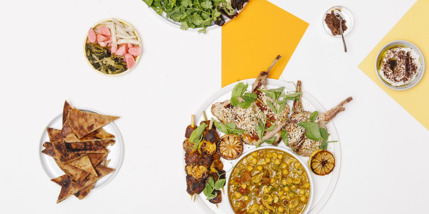 food leaf vegetable different produce dish meal variety arranged several