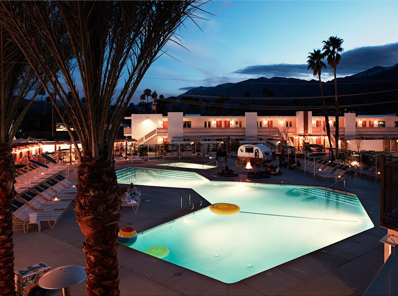 Hip Hotels Luxury Modern Pool leisure outdoor swimming pool estate Resort evening light
