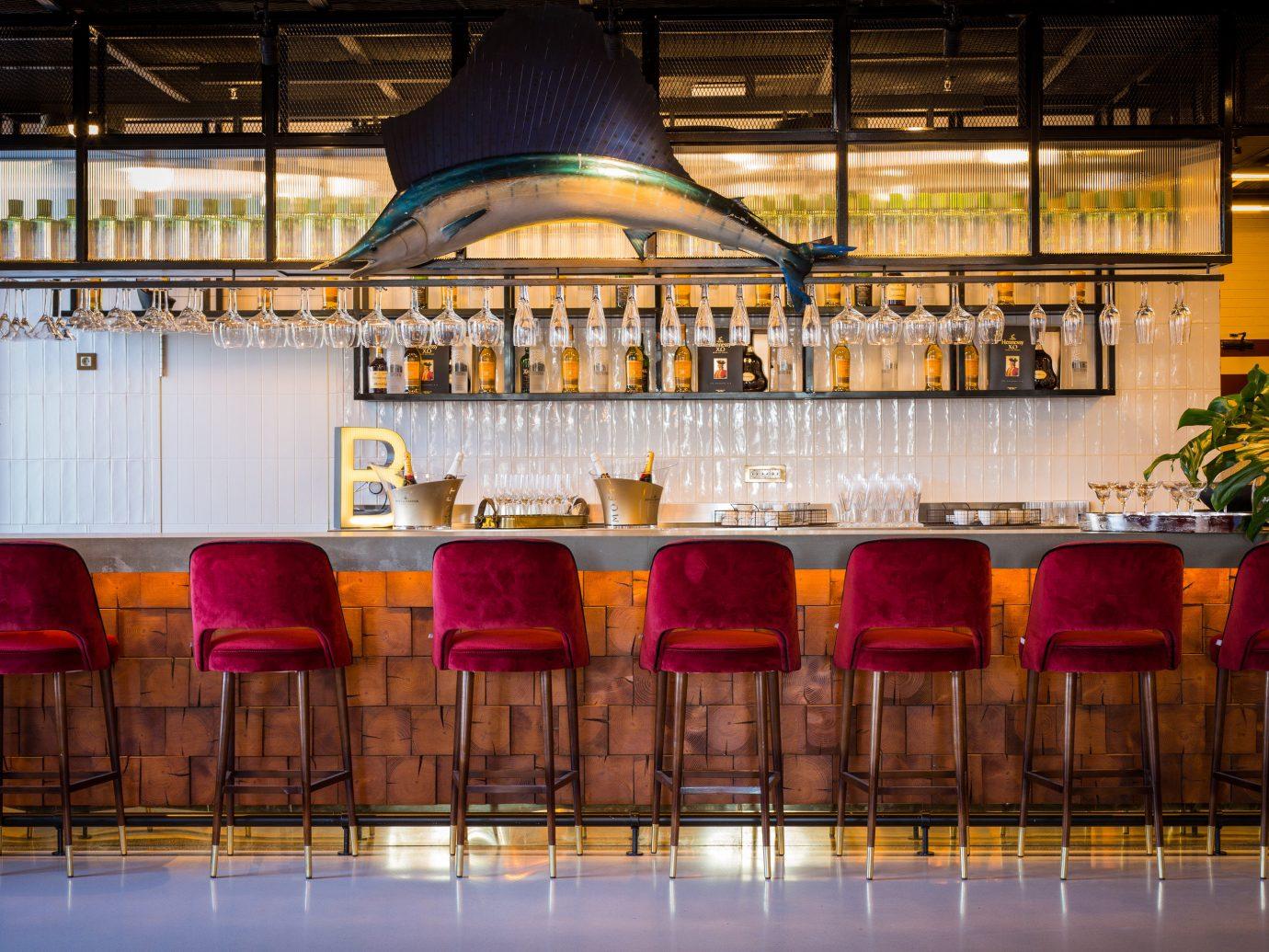Hotels Madrid Spain indoor restaurant interior design meal Bar