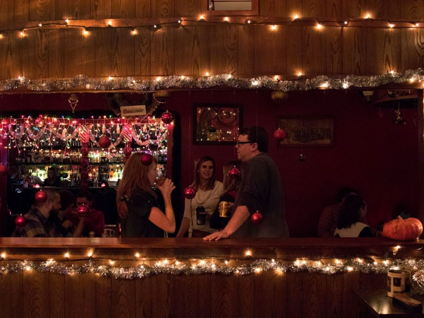 Food + Drink meal function hall nightclub banquet wedding reception Bar lit ballroom night