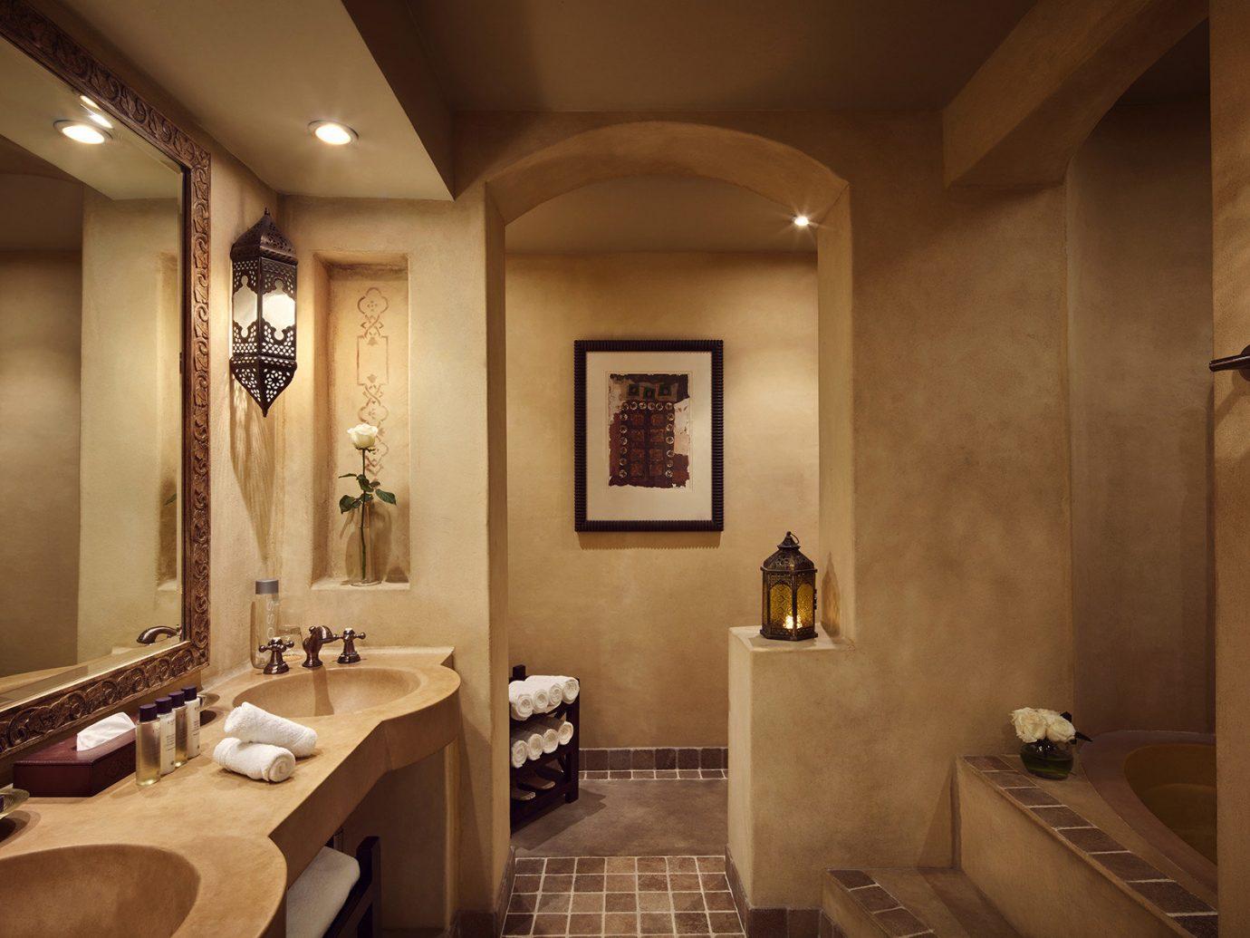 Dubai Hotels Luxury Travel Middle East indoor wall bathroom mirror ceiling room sink interior design toilet flooring estate floor Suite