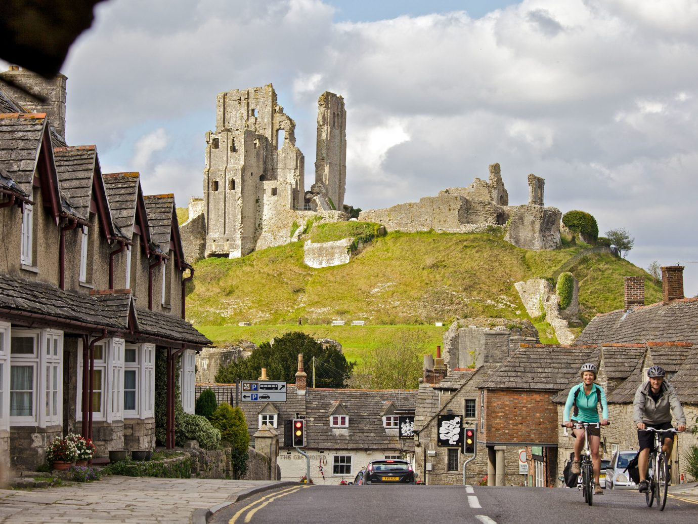 Romance Trip Ideas Weekend Getaways sky outdoor building Town City wall castle tree street history Village Ruins facade medieval architecture road stone