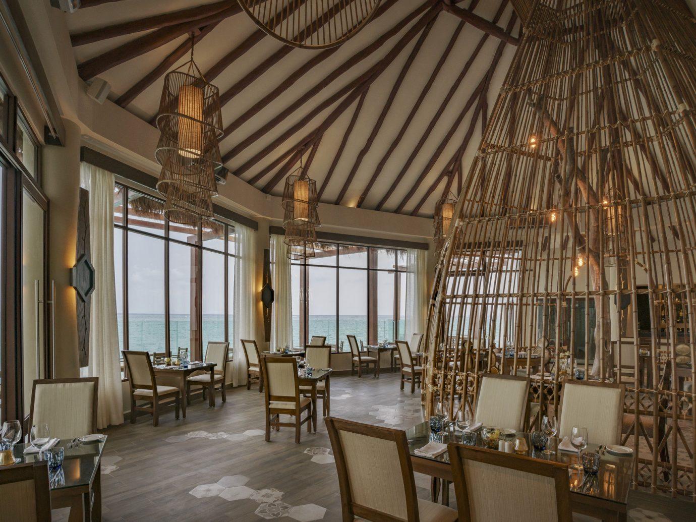 Hotels indoor room floor property window building ceiling estate interior design restaurant Resort furniture several