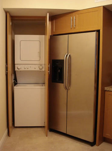 cabinet Kitchen cabinetry cupboard refrigerator appliance stainless steel kitchen appliance