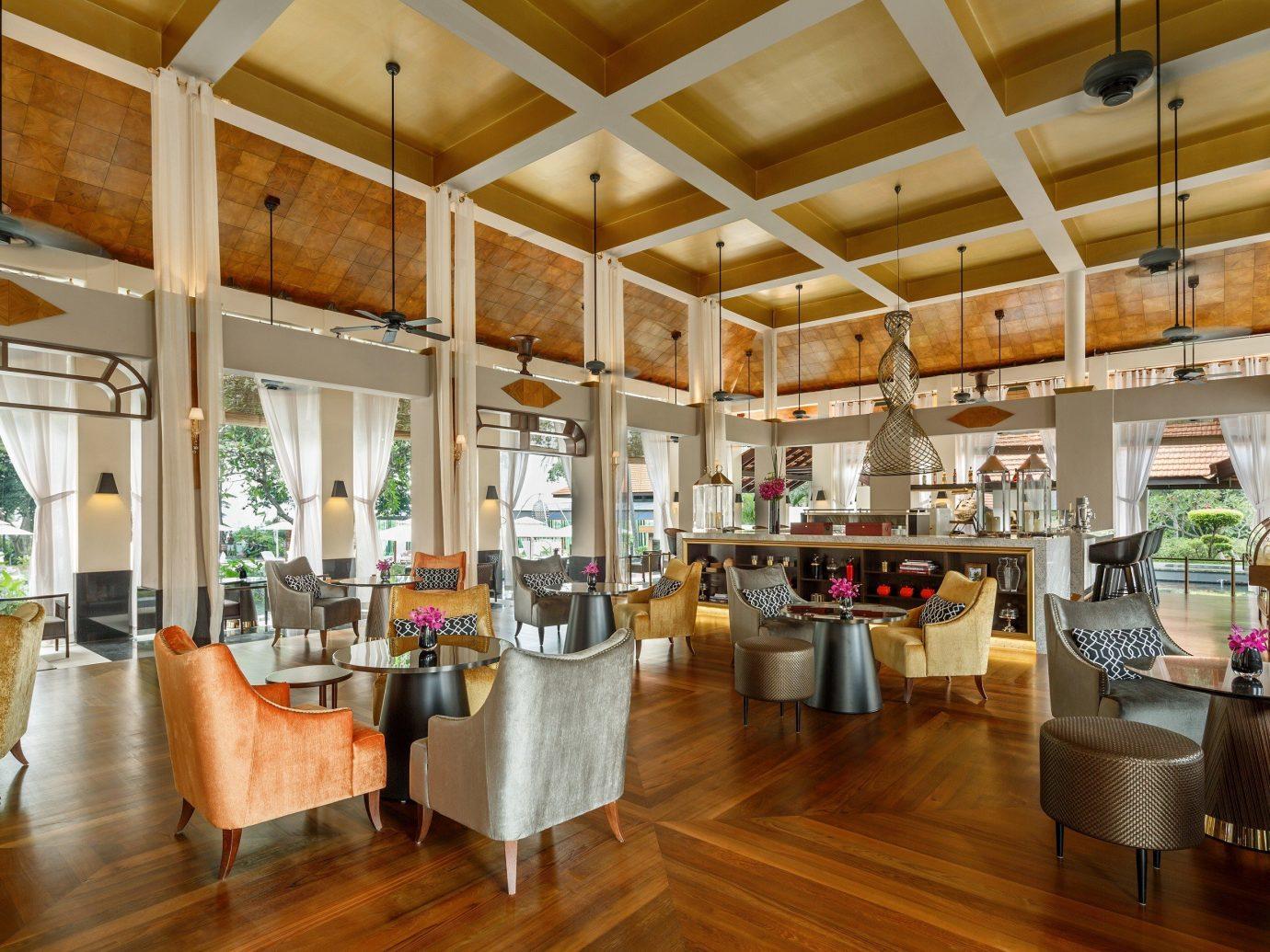 Hotels indoor floor room ceiling property window Living estate interior design restaurant home real estate Resort Lobby area wood Design furniture