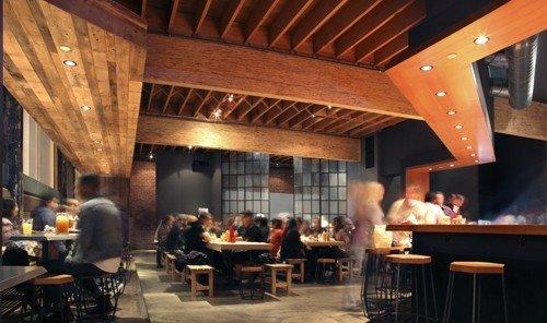 Food + Drink indoor room restaurant ceiling Bar interior design real estate Resort estate area furniture