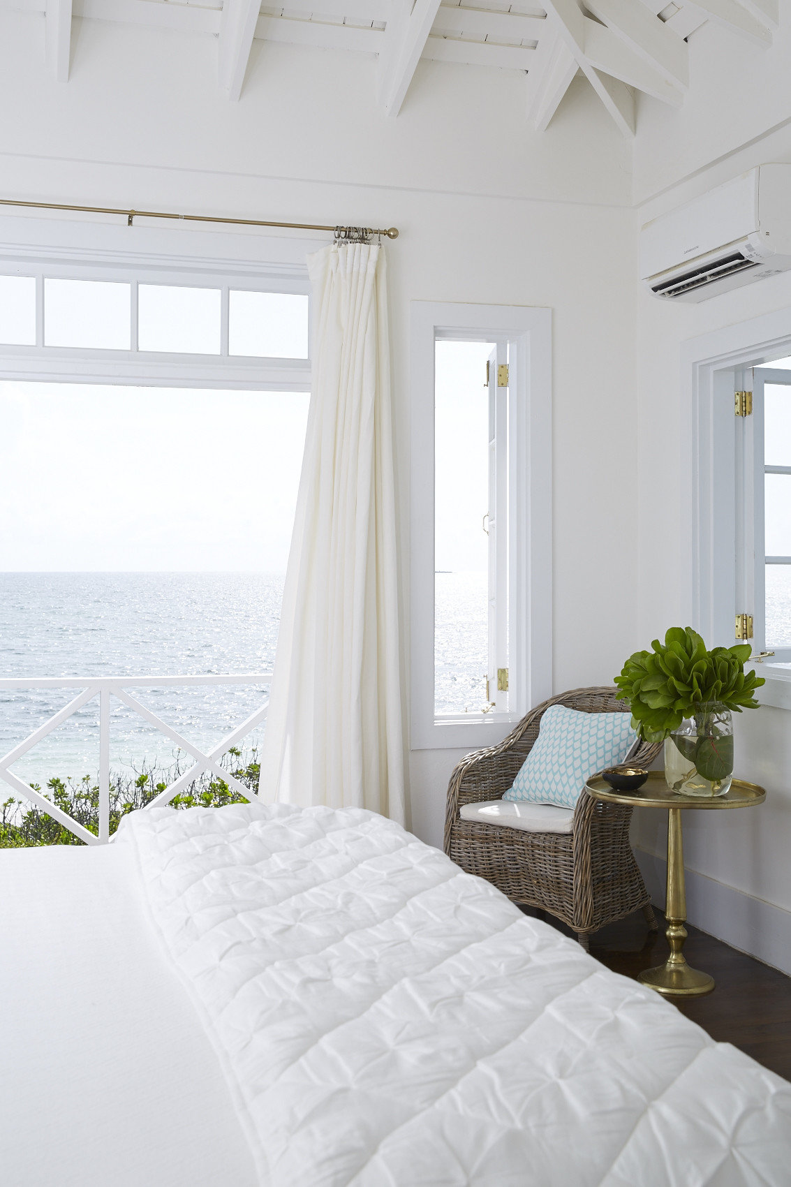 Beach Islands Luxury Travel Trip Ideas indoor wall window room property white home interior design cottage estate floor Bedroom farmhouse furniture Villa apartment decorated bedclothes