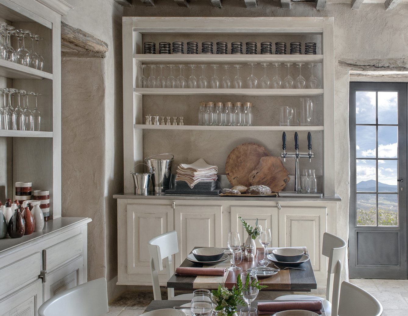 charming cozy Dining europe homey interior Kitchen quaint Rustic table Trip Ideas dining room room living room window property home interior design floor estate farmhouse wood ceiling cottage real estate Design loft porch furniture