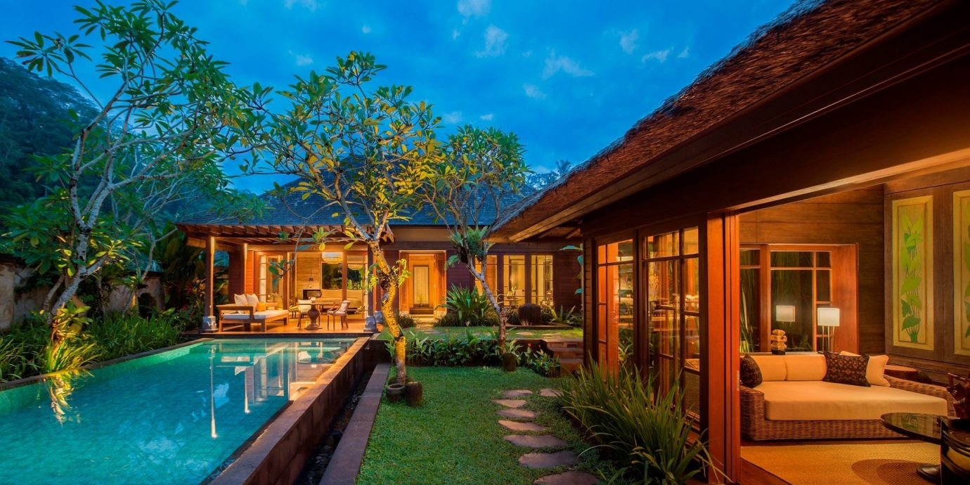 Health + Wellness Hotels tree outdoor property estate building Resort house swimming pool Villa home vacation real estate mansion cottage eco hotel backyard farmhouse area