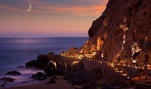 Food + Drink outdoor sky Nature Coast mountain Sea Ocean Sunset sunrise rock cliff evening terrain cape dusk bay dawn formation