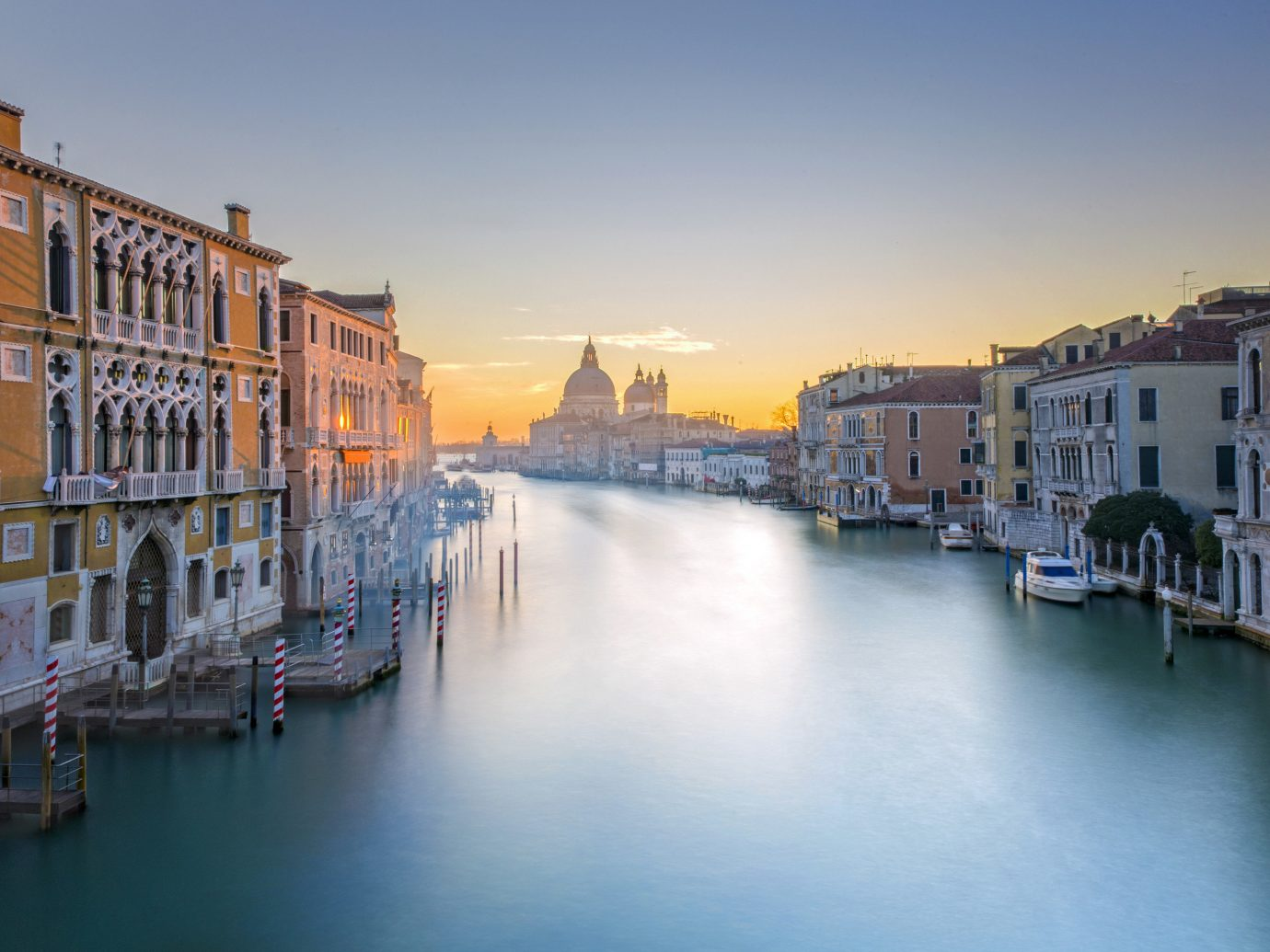 Trip Ideas sky scene water outdoor Canal body of water landform geographical feature waterway reflection Town cityscape River Harbor vehicle channel evening dock Boat Sea dusk