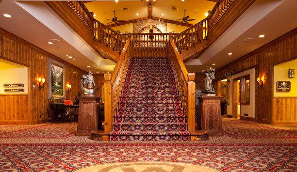 Lobby function hall yellow flooring hall carpet ballroom rug