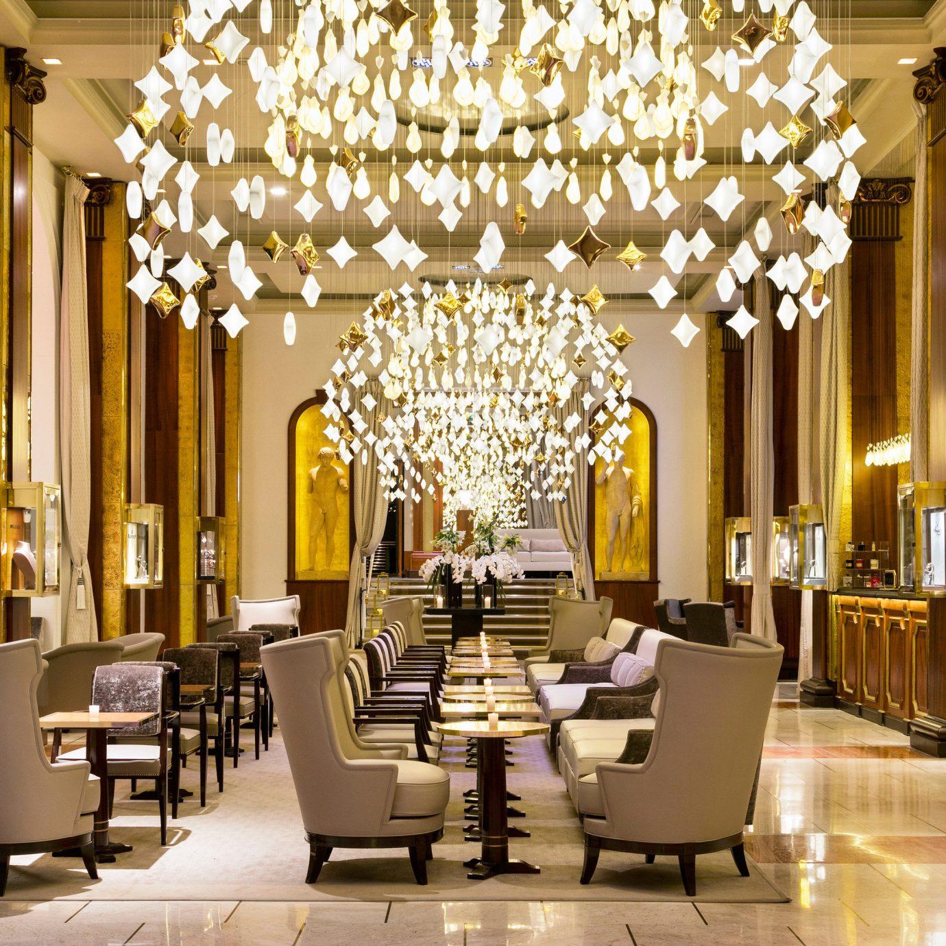 Lobby function hall restaurant lighting palace ballroom