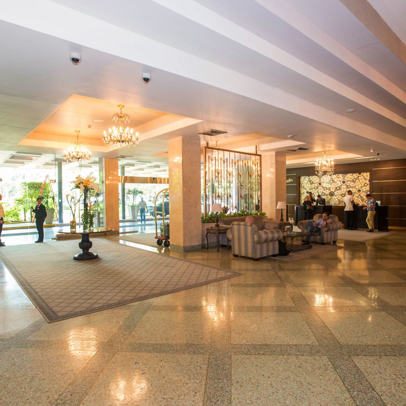 Lobby property building shopping mall plaza convention center headquarters retail