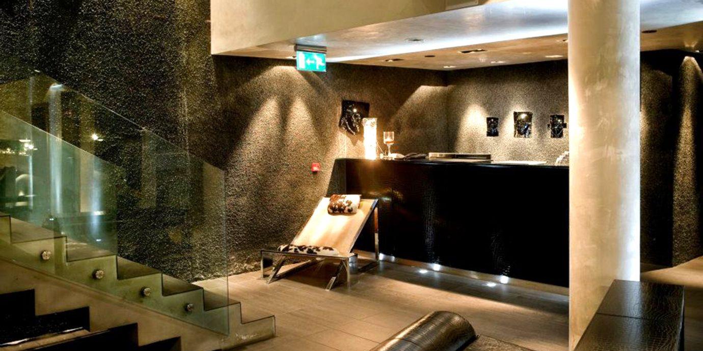Lobby lighting restaurant steel stainless