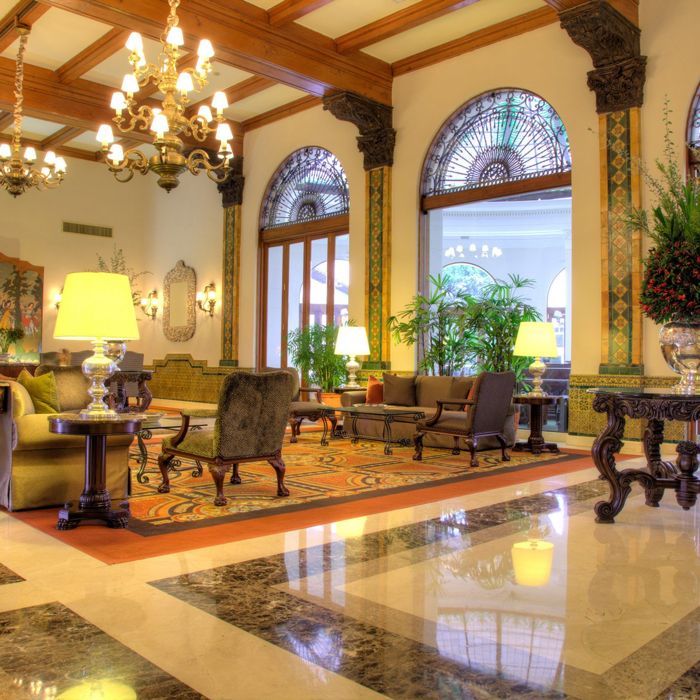 Lobby Lounge Resort property building home mansion palace Villa living room hacienda