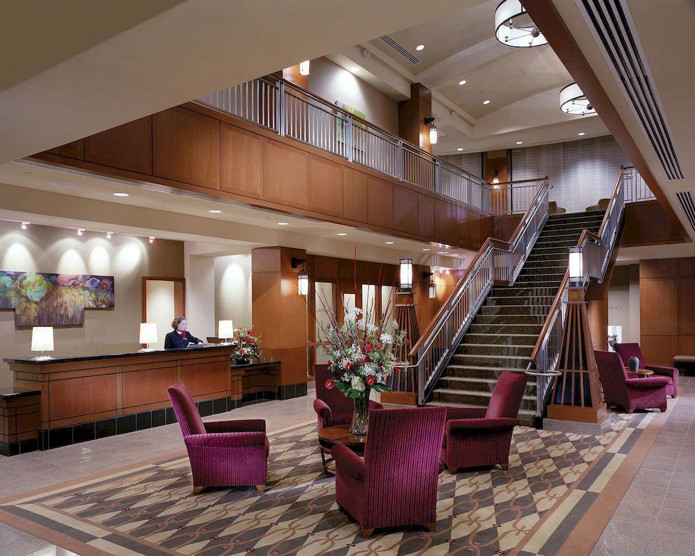 Lobby property living room purple Resort condominium convention center