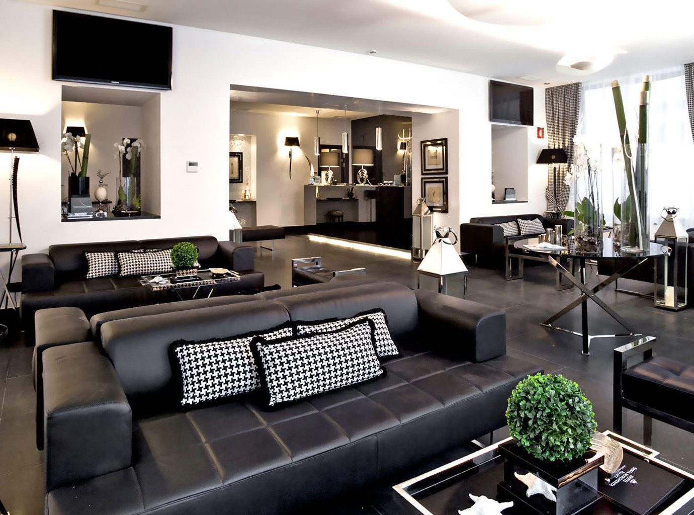 green property living room condominium Lobby home mansion Villa Suite leather