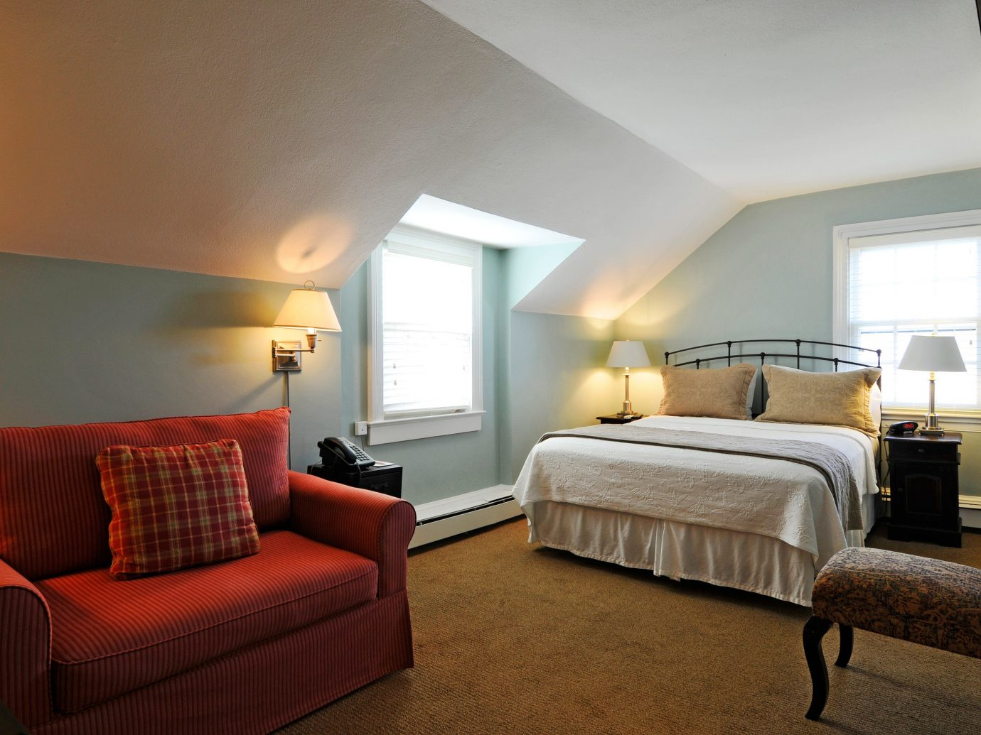 Beach Bedroom Boutique Inn Outdoor Activities South Fork The Hamptons indoor floor wall room bed ceiling sofa hotel property Suite living room estate real estate home interior design cottage apartment Villa furniture