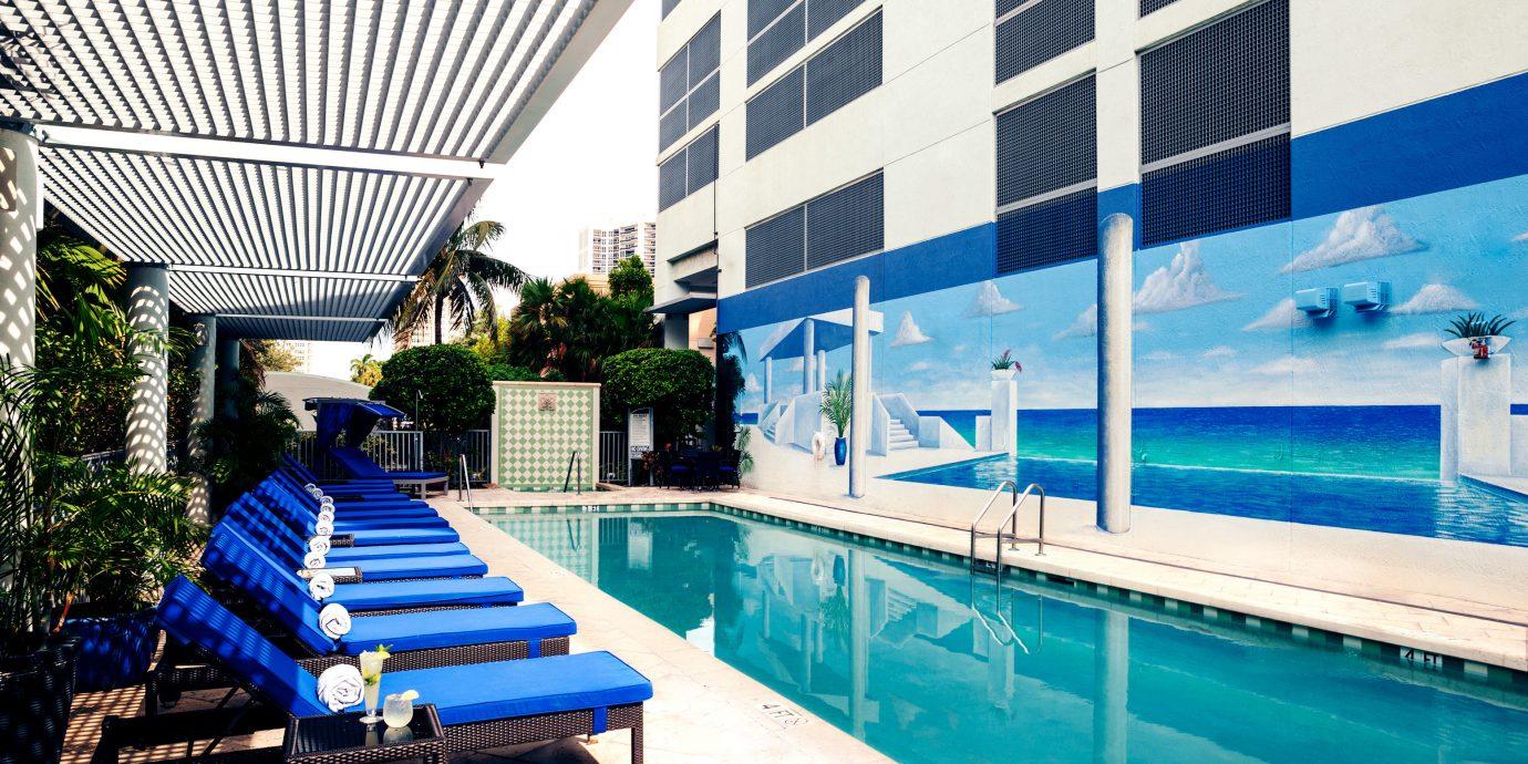 Luxury Modern Pool leisure swimming pool blue Resort condominium