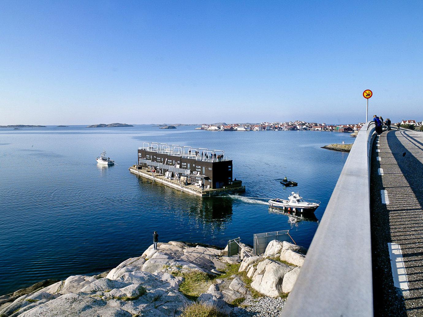 Boutique Hotels Sweden Sea water waterway sky breakwater Coast horizon fixed link coastal and oceanic landforms port Ocean calm dock channel