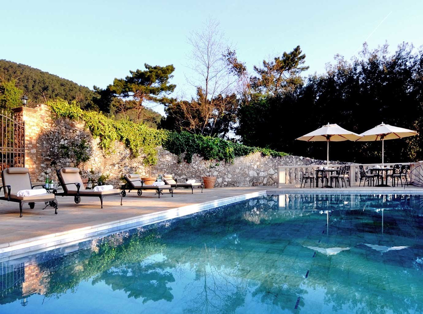 Elegant Italy Luxury Pool Trip Ideas Villa tree outdoor sky swimming pool leisure property Resort estate resort town backyard bathtub several day