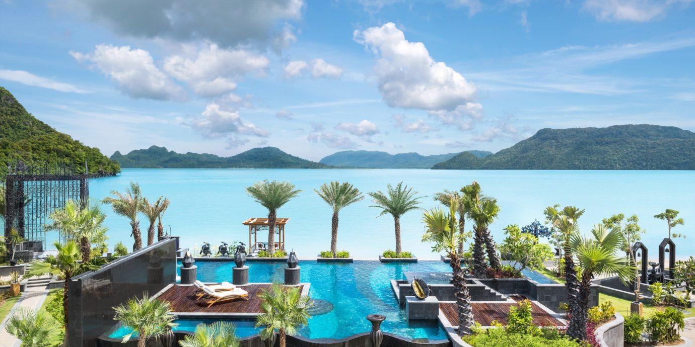 Hotels sky outdoor property Resort vacation estate caribbean tourism bay Lagoon Sea furniture shore