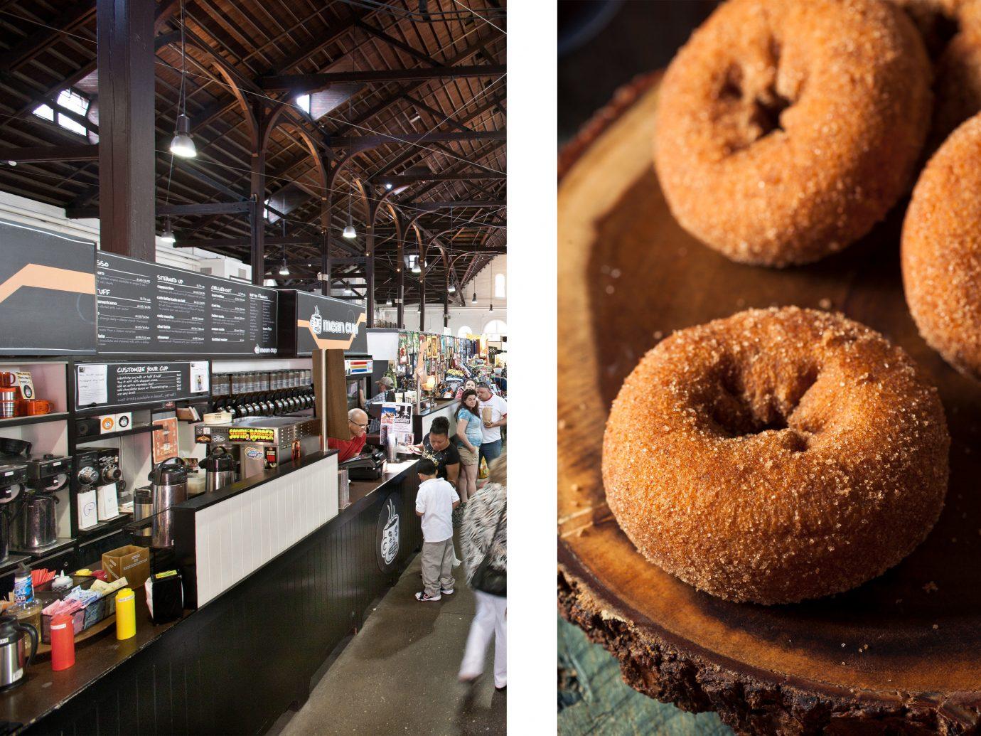 Food + Drink doughnut indoor food bakery baking dessert donut several