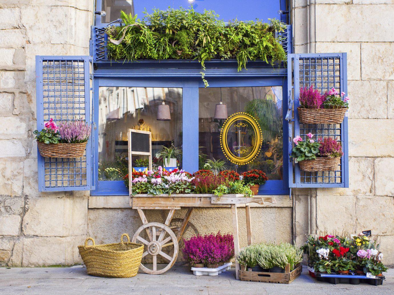 Romance Travel Tips Trip Ideas building outdoor flower floristry Balcony facade home Courtyard Garden yard window stone