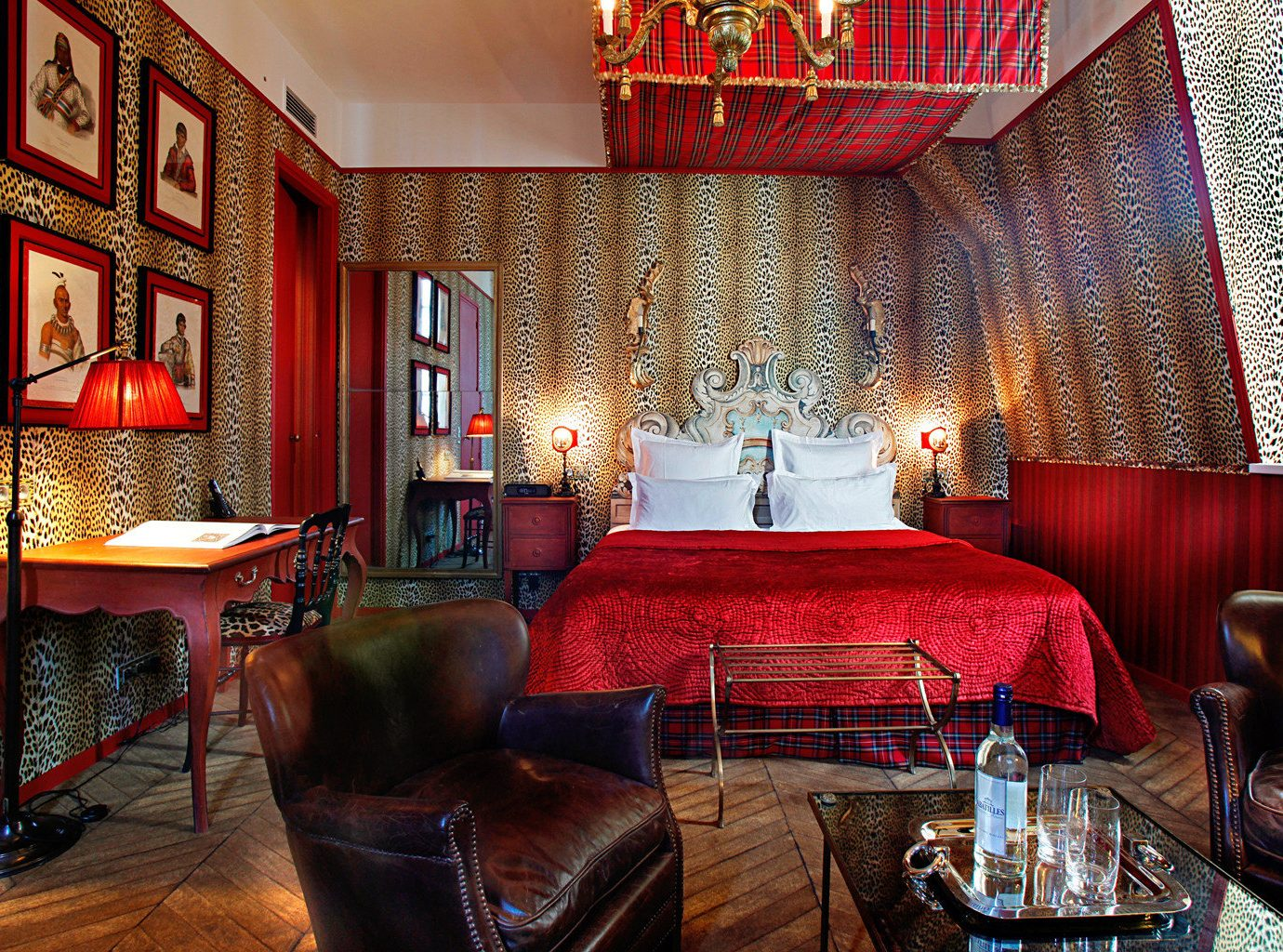 France Hotels Paris Style + Design indoor red chair floor room sofa Living restaurant Lobby living room interior design estate furniture Suite Bar dining room decorated leather