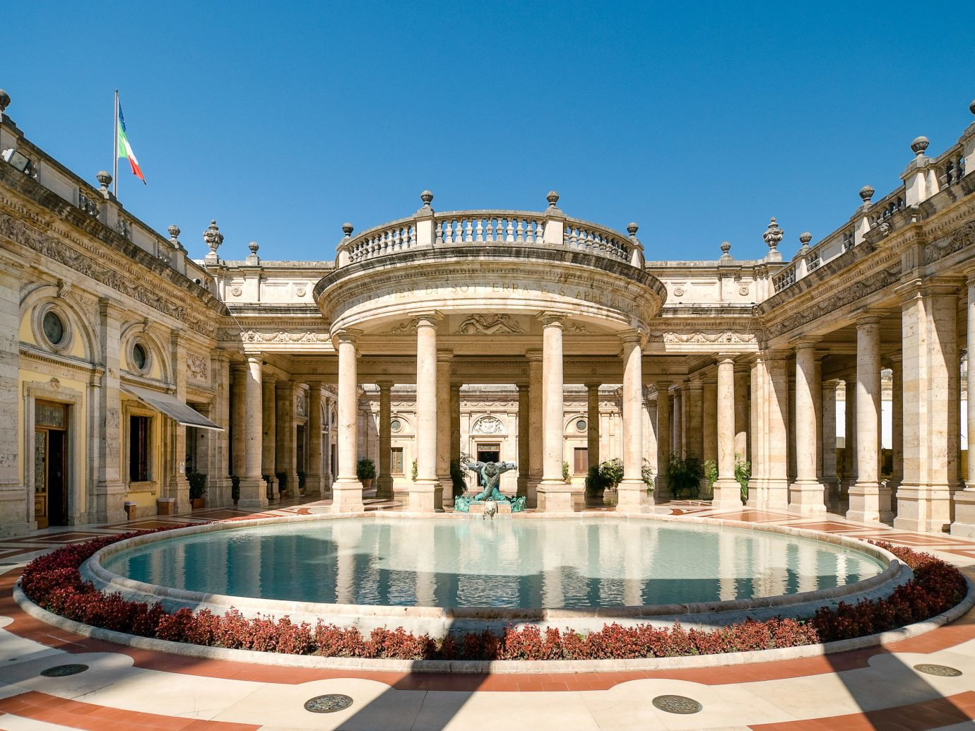 Health + Wellness Luxury Travel Trip Ideas building outdoor tourist attraction estate thermae tourism mansion ancient rome real estate palace plaza leisure hotel sky colonnade