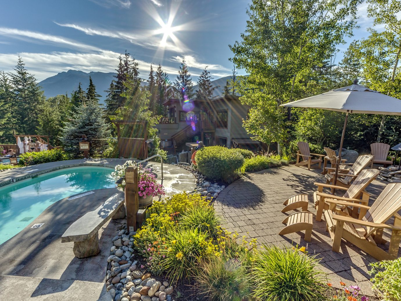Trip Ideas Winter tree outdoor property swimming pool backyard estate real estate leisure Resort home landscape landscaping outdoor structure water yard plant resort town Patio water feature recreation amenity Villa Garden several