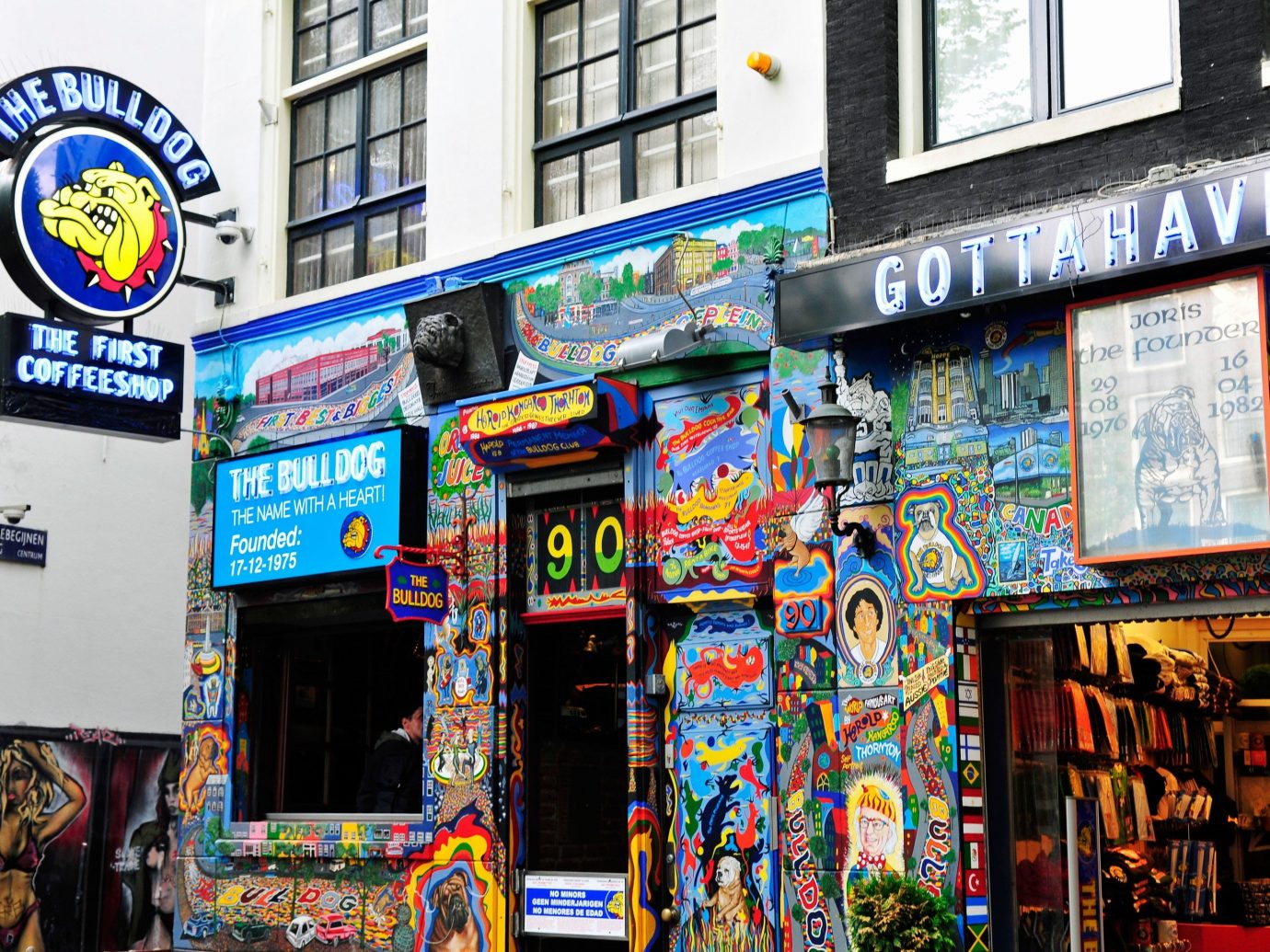 Jetsetter Guides building outdoor road City urban area street shopping colorful display device signage Shop