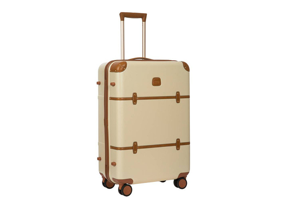 Packing Tips Travel Shop Travel Tips suitcase brown product handcart product design metal hand luggage beige kitchen appliance