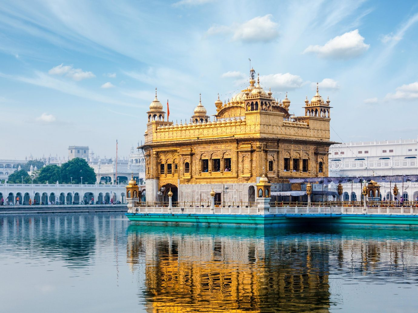 Travel Tips water outdoor water transportation reflection sky tourist attraction Sea palace building place of worship temple tourism hindu temple calm