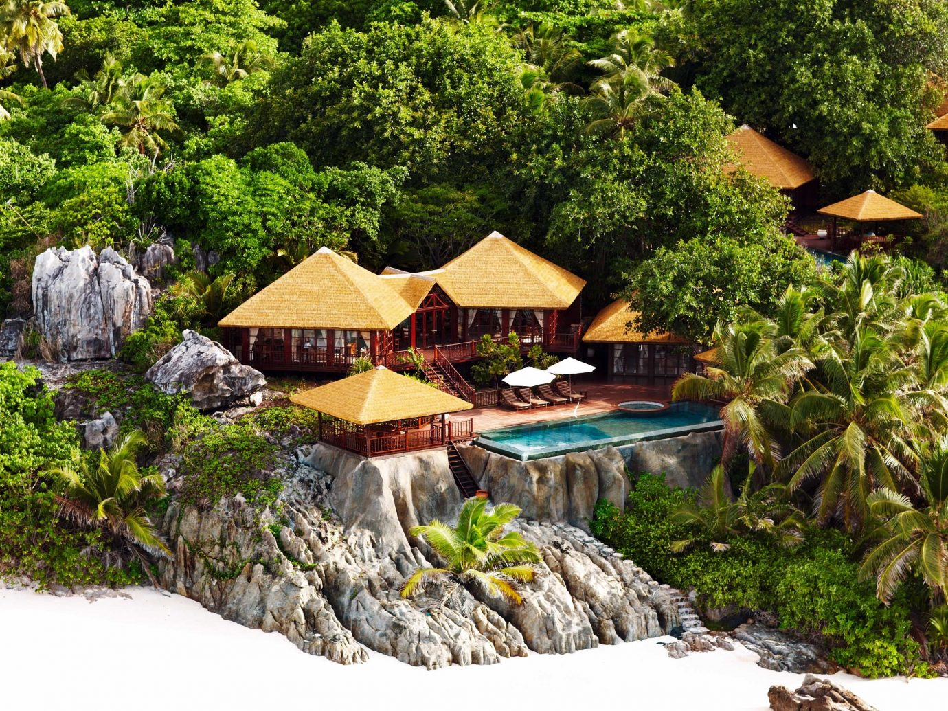 All-Inclusive Resorts Beach Beachfront Hotels Island Jungle Luxury Pool Romantic tree outdoor rock ecosystem Nature Resort Garden backyard cottage surrounded several